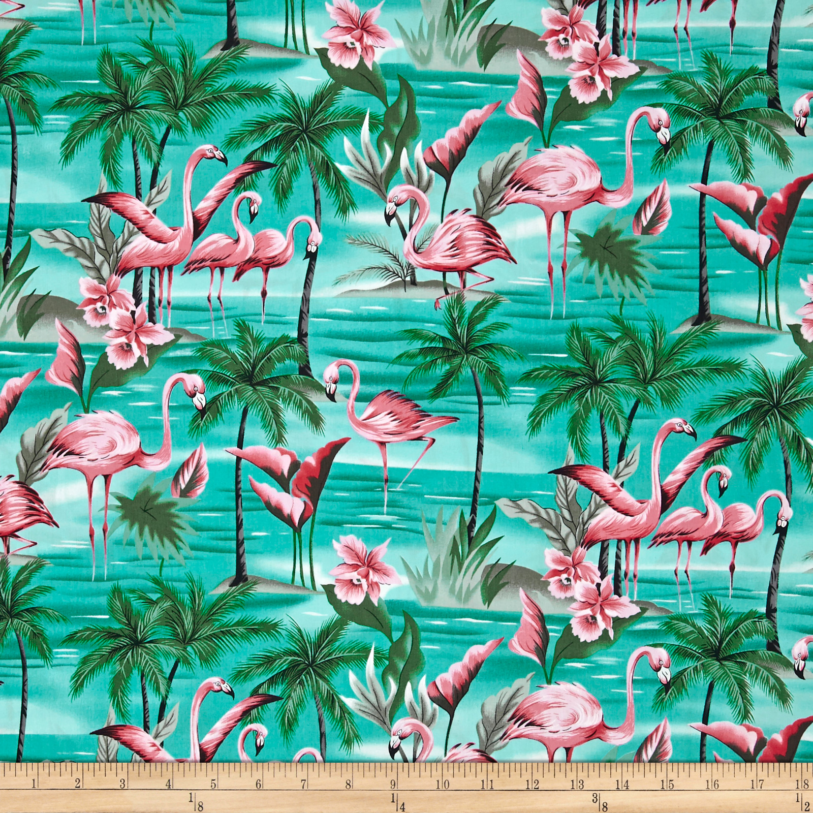 Hoffman Tropical Collection Flamingo Aqua