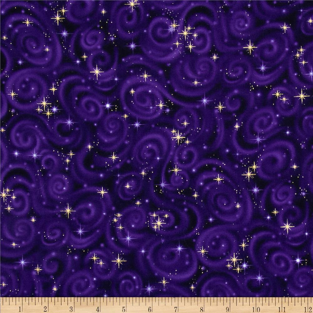 Stargazers star texture violet discount designer fabric for Space is fabric