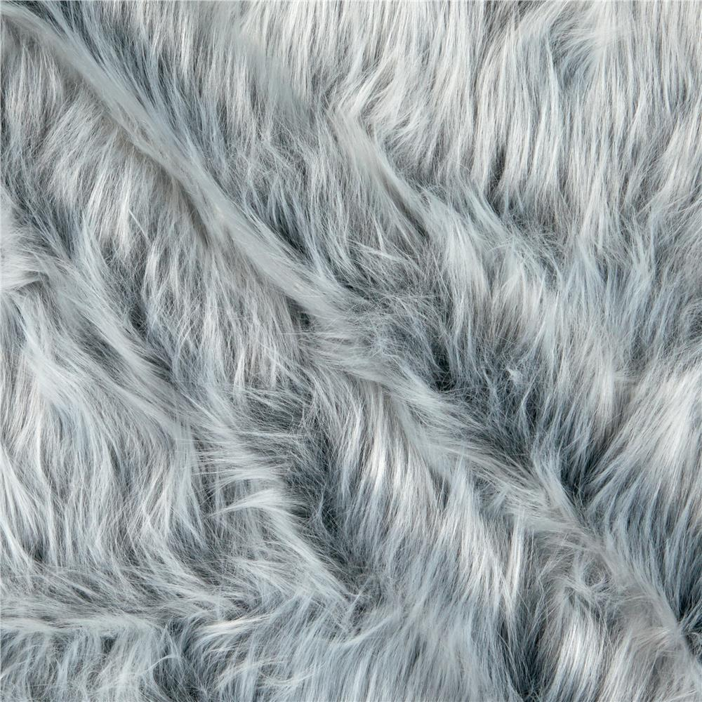 shannon faux fur monkey shag gray frost discount. Black Bedroom Furniture Sets. Home Design Ideas