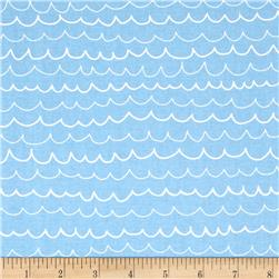 Riley Blake Treasure Map Waves Blue