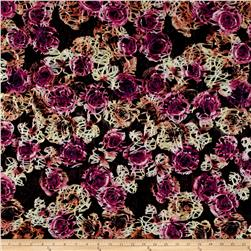 Telio Mixi Embroidered Abstract Black/Pink/Yellow