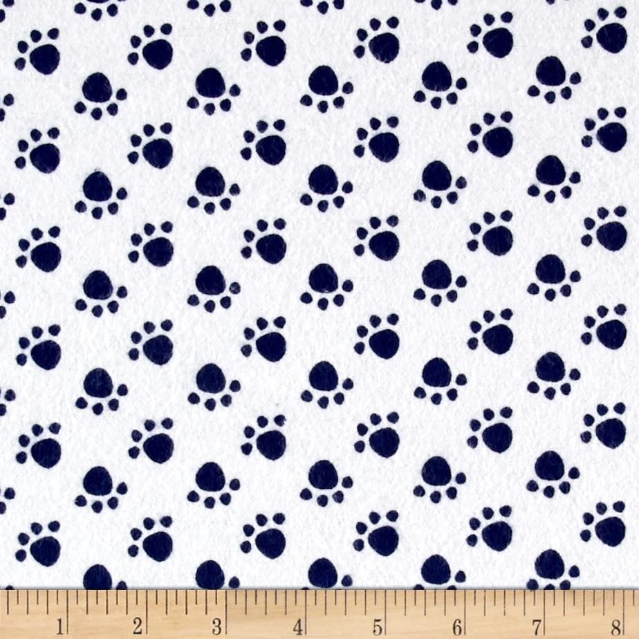 Flannel Paw Print Navy