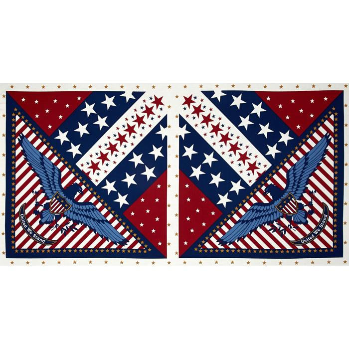 Quilts of Valor Eagle 24'' Panel Light Tan