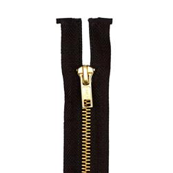 Coats & Clark Heavy Weight Brass Separating Zipper 24