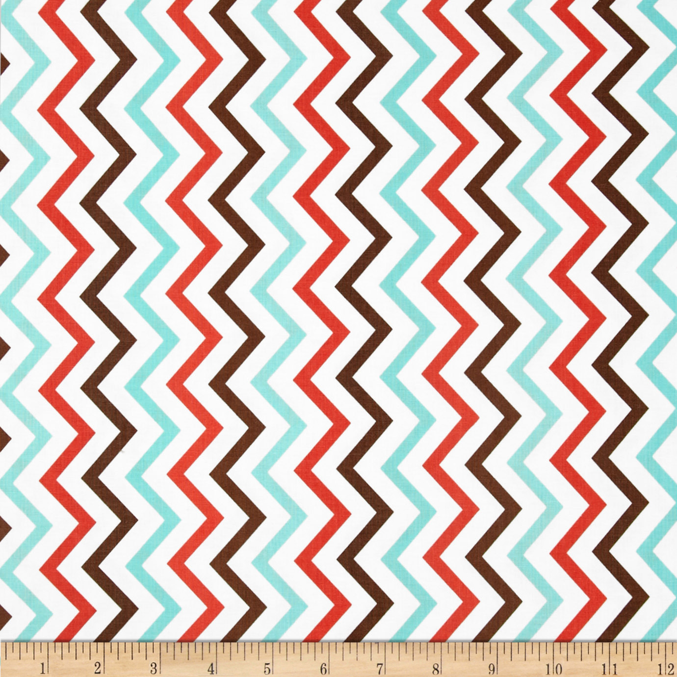 Michael Miller Mini Chic Chevron Coral Fabric