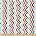Michael Miller Mini Chic Chevron Coral