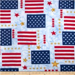 Fleece Prints Flags Red/White/Blue