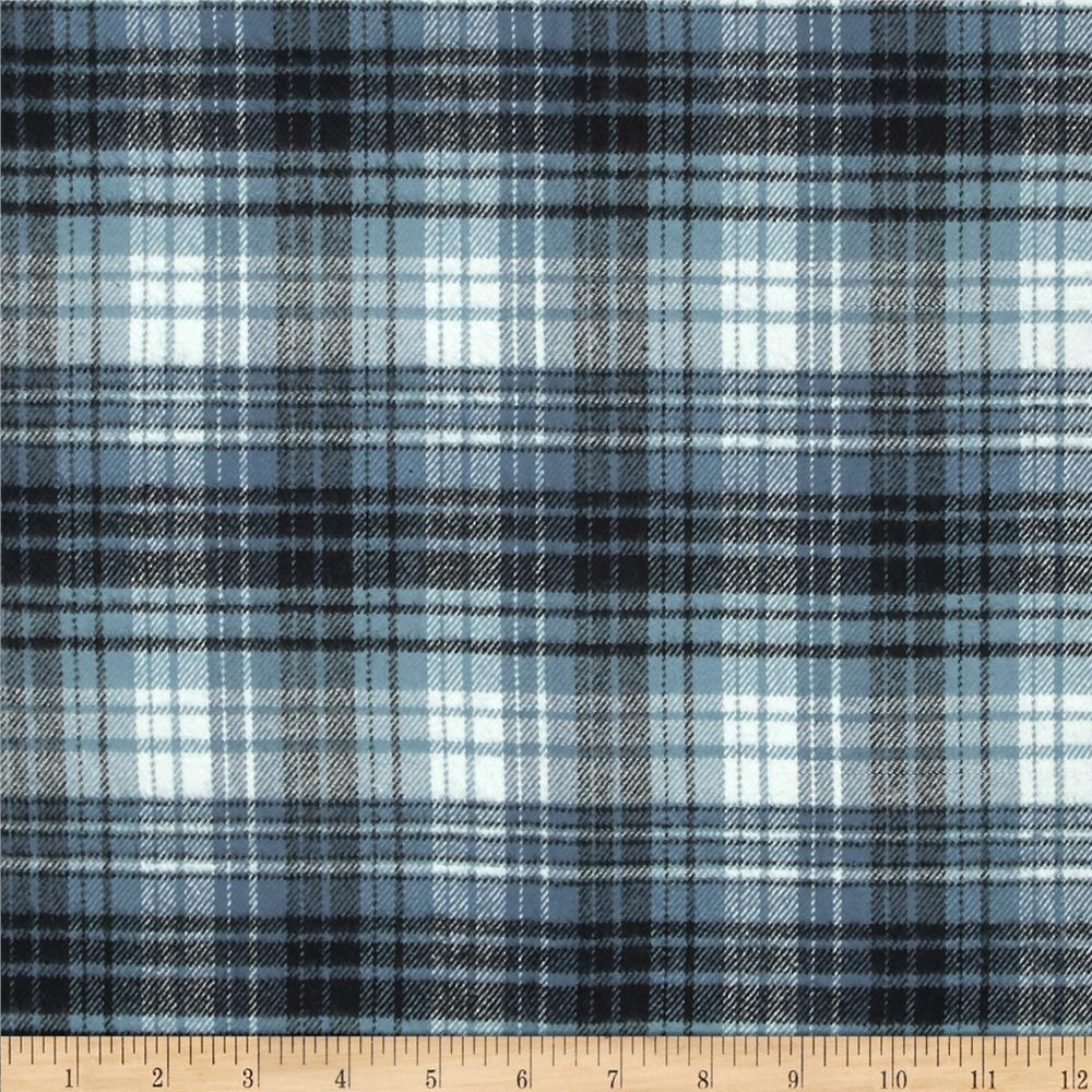 primo plaids flannel plaid navy white discount designer. Black Bedroom Furniture Sets. Home Design Ideas