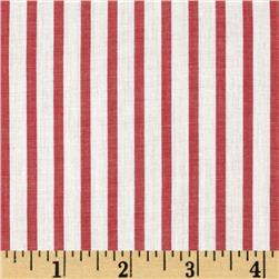 Cotton Lawn Yarn Dyed Stripe Red