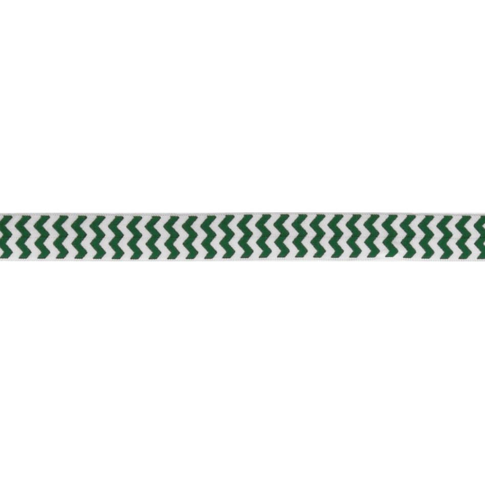 "5/8"" Fold Over Elastic Chevron Emerald"