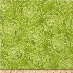 Always Blooming Tone on Tone Flower Green