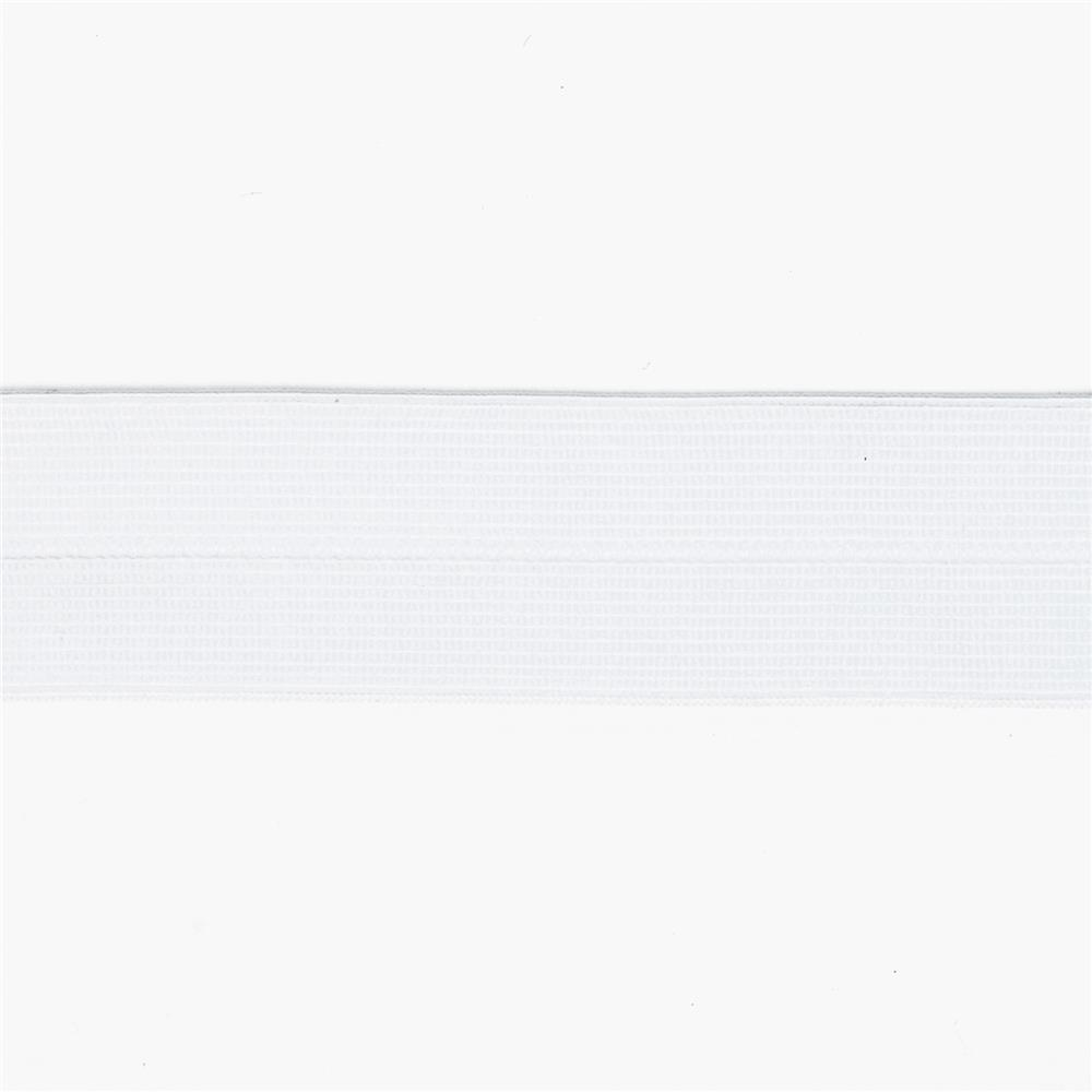 "1"" Fold-Over Elastic White"