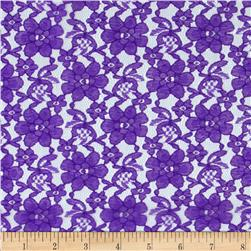 Raschel Lace Purple