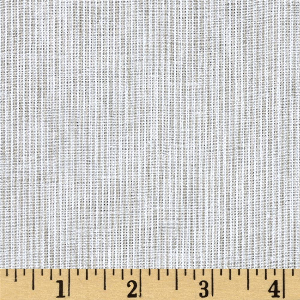 Telio Umbria Linen Taupe Stripe Fabric By The Yard