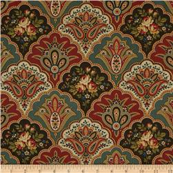 Amelia Scalloped Paisley Red