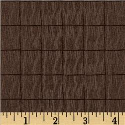 The Color Collection Box Plaid Brown Fabric