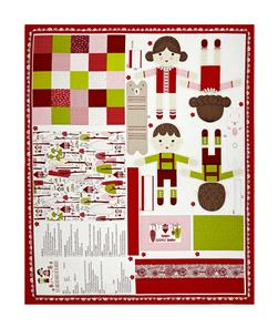 "Moda Just Another Walk In The Woods Walk in the Woods 36"" Dolls Panel Multi"