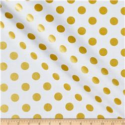Michael Miller Glitz Metallic Quarter Dot Pearlized Glitz