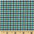 Small Woven Houndstooth Black/White/Blue