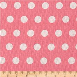 Michael Miller Textured Basics Cool Dots Salmon