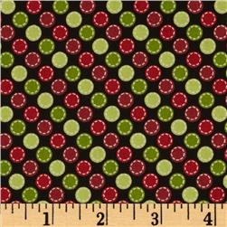 Kimberbell's Merry & Bright Stitched Dots Black