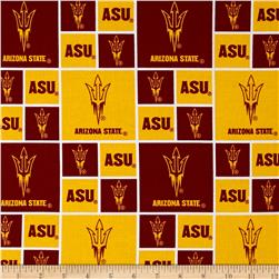 Collegiate Cotton Broadcloth Arizona State University Yellow