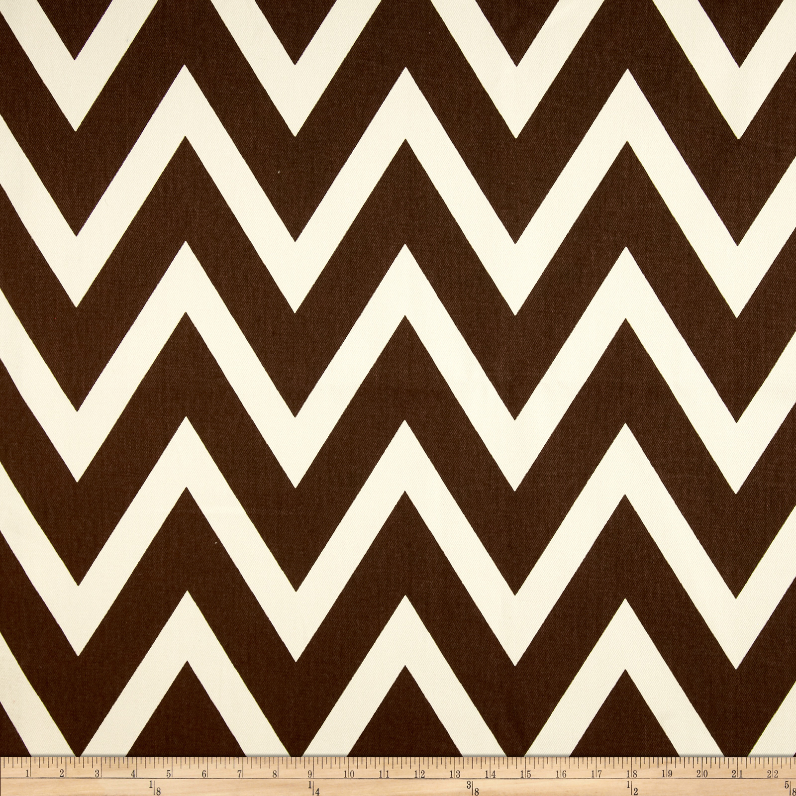 10 oz. Bull Denim Chevron Natural/Brown