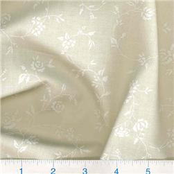 108'' Quilt Backing Tone on Tone Floral White/Ivory