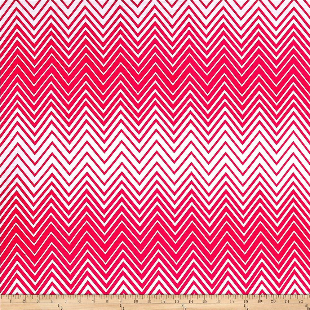 Missouri Chevron Jersey Knit Red/White Fabric