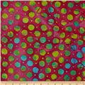 Indian Batiks Medium Dots Fuchsia/Multi