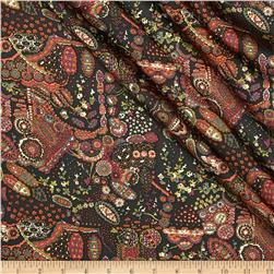 Liberty of London Silk Twill Fellowes Coral Fabric