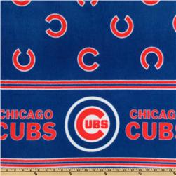 MLB Fleece Chicago Cubs Double Border Blue/Red