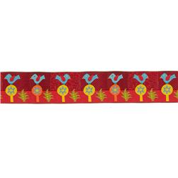 1 1/2'' Sue Spargo Folkloric Ribbon Blue Bird