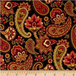 Timeless Treasures Marigold Allover Black