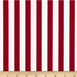 Harlequin Stretch Cotton Sateen Stripe Red/White