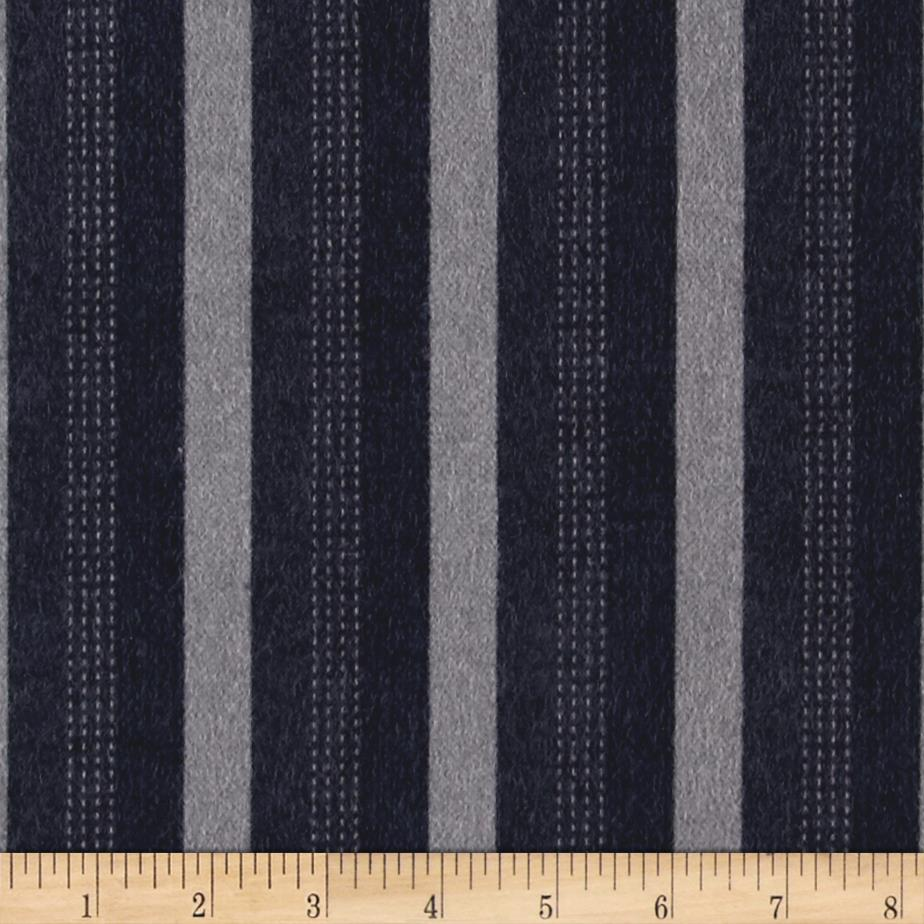Moda Wool & Needle lV Flannels Trouser Stripe Bandana Blue