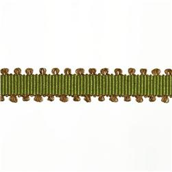 1/4'' Grosgrain Picot Edge Ribbon Olive/Brown