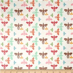 Riley Blake Laminate Flower Bees Multi