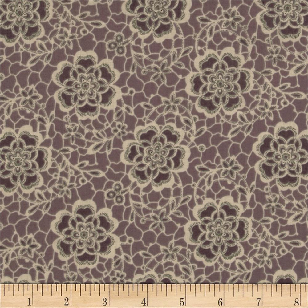 Downton Abbey Dowager Countess Floral Purple