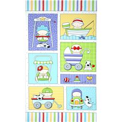 Bundle Of Joy Flannel Baby Panel White