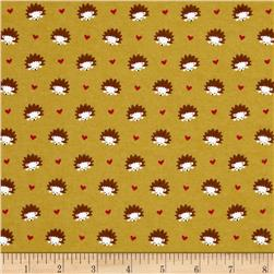 Michael Miller Flannel Hedgehog Heaven Olive