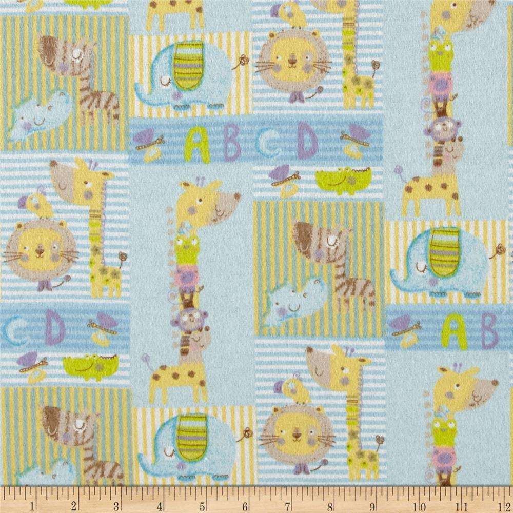 Small Patch Flannel Blue Fabric By The Yard