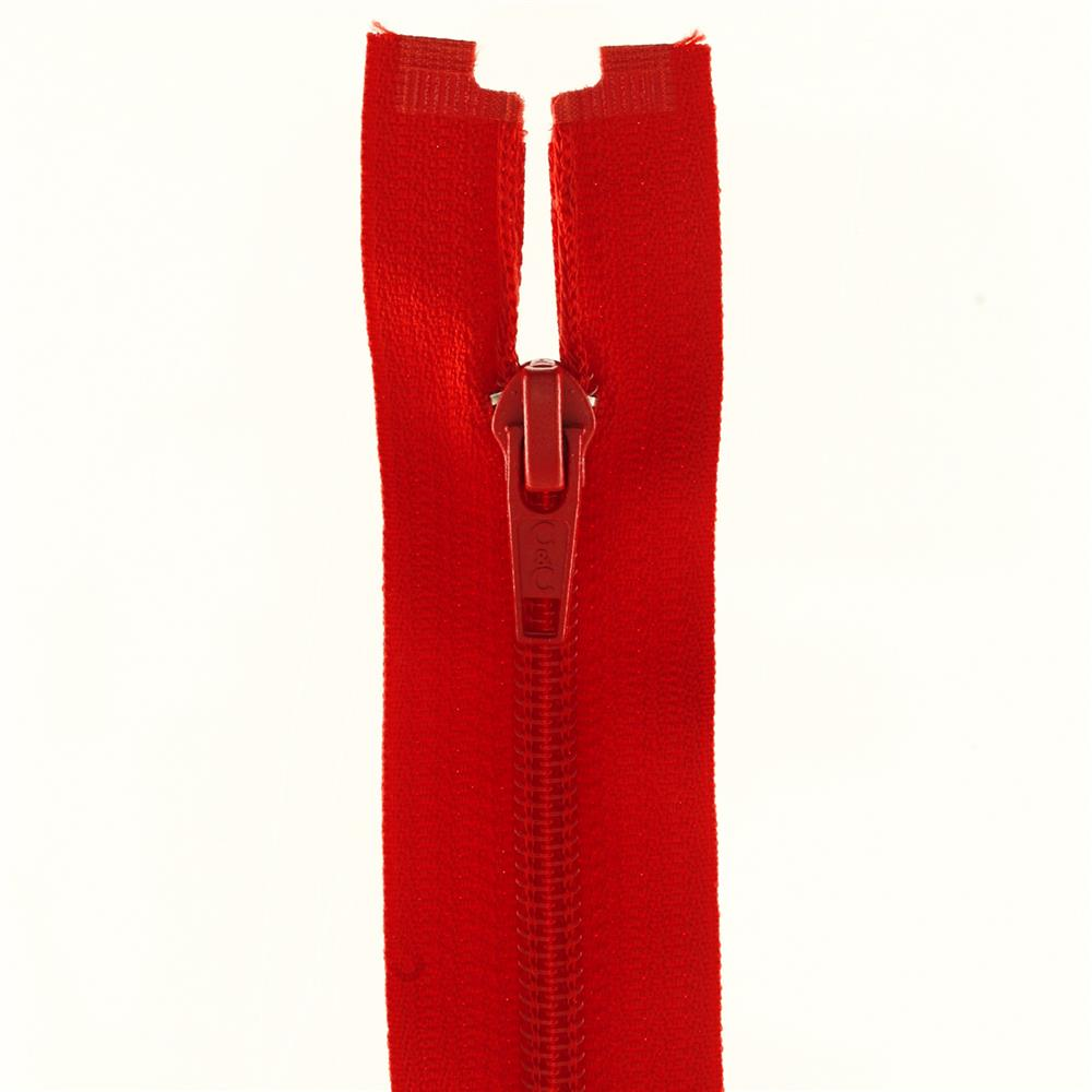 "Coats & Clark Coil Separating Zipper 14"" Atom Red"