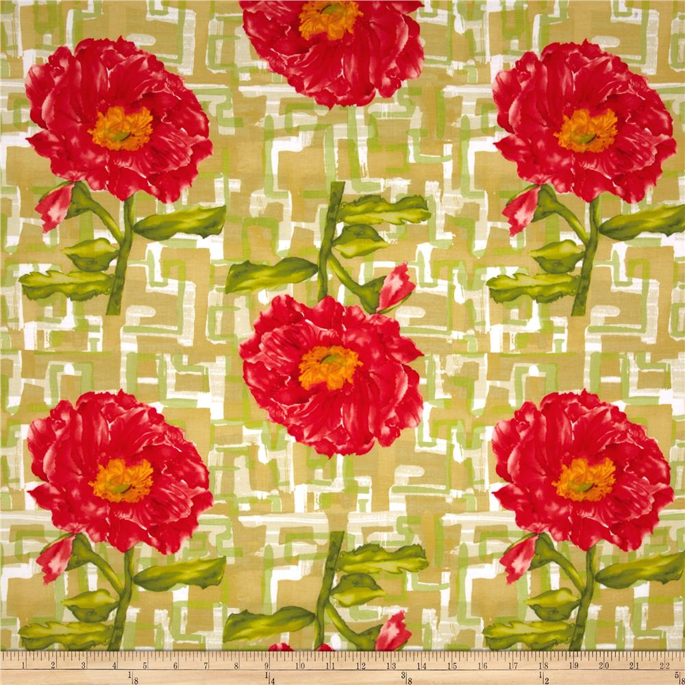 Belle Big Red Poppy Green