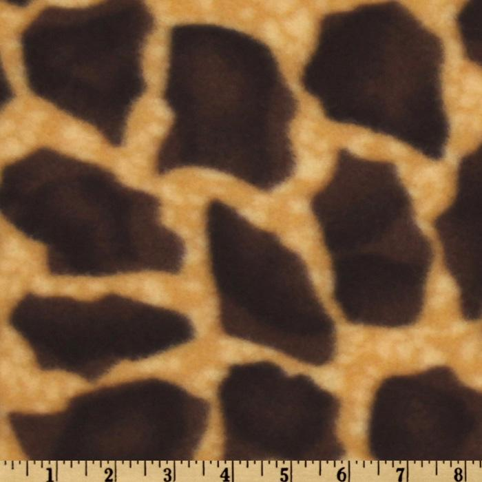 Fleece Giraffe Print Brown/Golden Tan