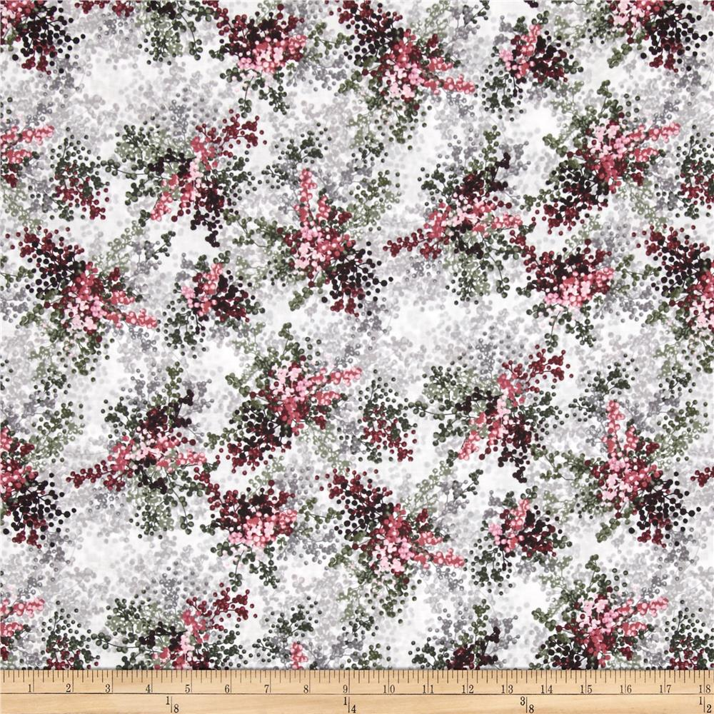 Floral Perspective Berries Tea Rose Fabric By The Yard