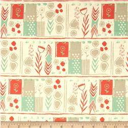 Cotton & Steel August Mezzanine Orange Fabric
