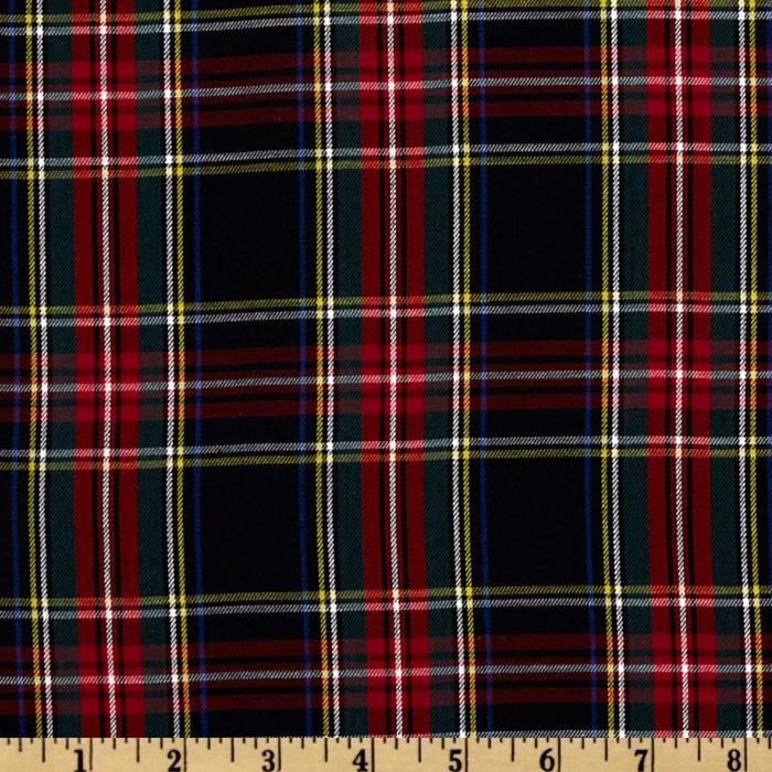 Kaufman House of Wales Plaid Shirting Black Fabric