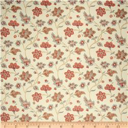 French General Floral Linen Rose