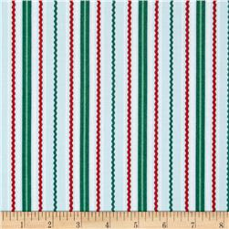 White Christmas Stripe Green